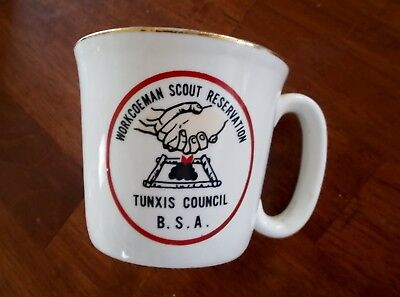 Vintage Boy Scout Workcoeman Scout Reservation Tunxis Council CT coffee mug