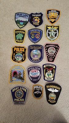 15 Police patches. Great for your collection or for trades