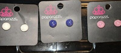 New Paparazzi Starlet Shimmer Lot Of 3 Kid's Filled Ball Earrings