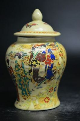 Distinctive Yellow Porcelain Painting Maid Chart Pots Collection