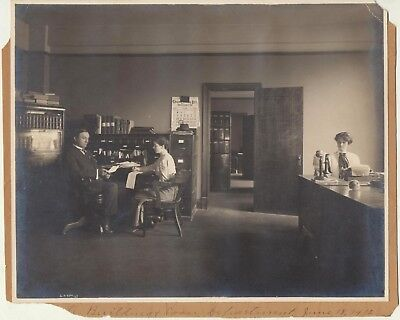 Beautiful Gelatin Silver Photo Union Central Life 2 Women & Man June 18, 1912