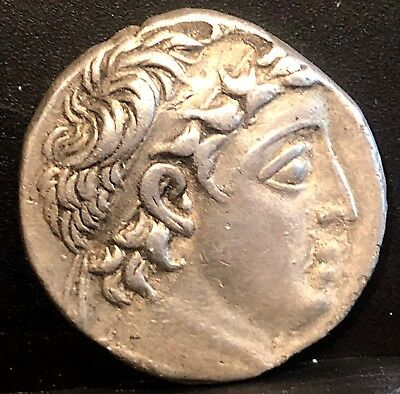 Seleucid Demetrios II 129-125BC Tyre Mint Ancient Greek Silver Tetradrachm 13.9g