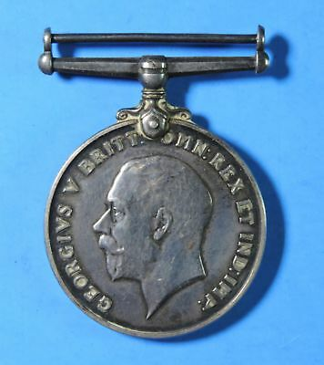 Original WWI British Named PTE H.F. King ASC Army Service Corps Silver Medal