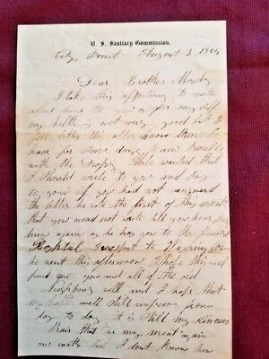 Civil War Soldier US Sanitary Commission Letter - 6th NY Heavy Artillery