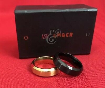 Ash and Ember Gold Beveled Size 11 (2 Rings) by Zach Heath. Retails $49.95