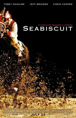 SEABISCUIT orig DS movie poster AUTHENTIC '03 one sheet