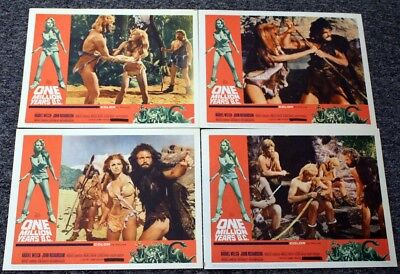 ONE MILLION YEARS B.C. Great Condition Raquel Welch Ray Harryhausen Lobby Cards