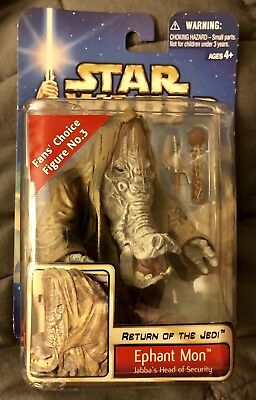 NIP Star Wars Ephant Mon Figure Jabba's Head of Security 2002 #45 Fans' Choice