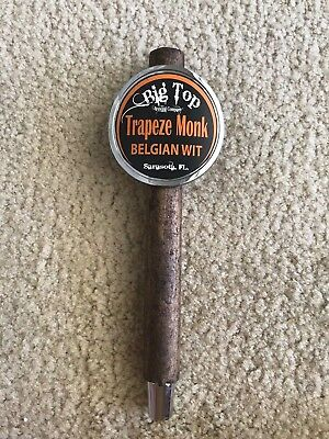 "Beer-Bar-Brewania-Tap Handle-Big Top Trapeze Monk Belgian Wit-10""-Sarasota, FL"