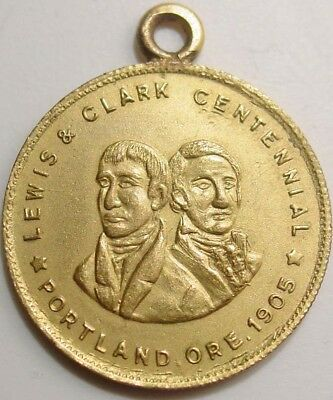 1905 Lewis and Clark Exposition Watch Fob Medallion in Fine Condition.  Rare!