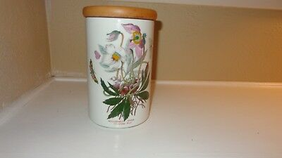 "Portmeirion Botanic Garden 8"" Storage Jar Canister with Lid Christmas Rose"