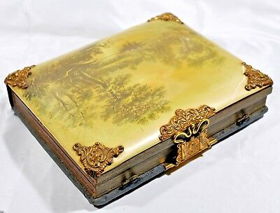 Antique Victorian Celluloid Photo Album with Many Family Photos Providence RI