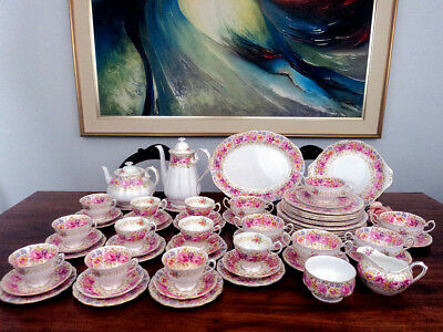 "Vintage Royal Albert ""Serena"" Dinner/tea/coffee Set England 62pc"