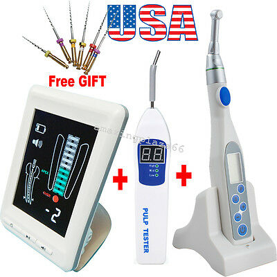 Dental LCD Apex Locator Root Canal Endo motor treatment 16:1 Contra Angle+tester