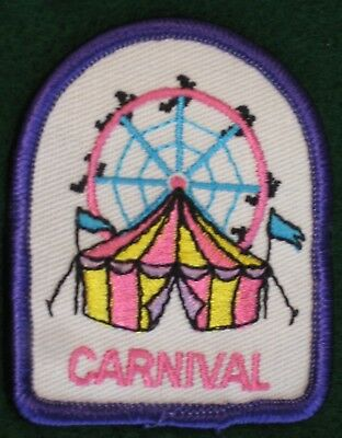 Carnival Fair Ferris Wheel Circus Tent Fun Patch Cub Boy Girl Scouts Badge - NEW