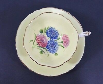 Paragon English Bone China Tea Cup and Saucer England Yellow Floral