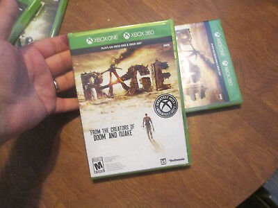 Rage  PLAYS ON XBOX ONE & XBOX 360 BRAND NEW FACTORY SEALED