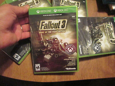 Fallout 3 -- Game of the Year Edition XBOX 360 & XBOX ONE BRAND NEW SEALED