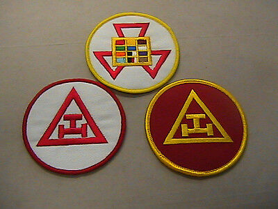MASONIC PAST HIGH PRIEST and  Embroidered Emblem Patch  lot of (3)