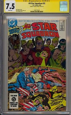 All-Star Squadron #32 - Signed By Jerry Ordway - Cgc 7.5 - 1591715012