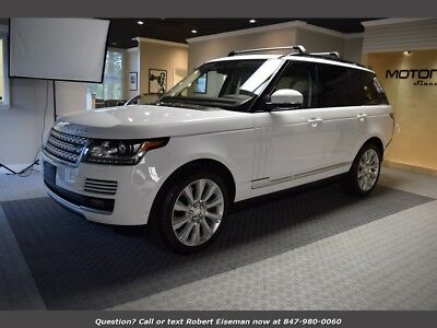 2014 Range Rover Supercharged 2014 Land Rover Range Rover Supercharged Fuji White, MSRP $115k, We Finance