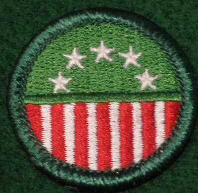 Girl Scouting in the USA Junior Badge Stars Stripes Flag - NEW