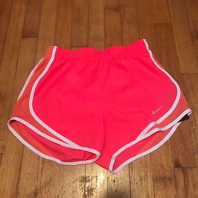 NWT Nike Womens Dry Dri-Fit Tempo Running Shorts w/Brief Liner Pink/Peach