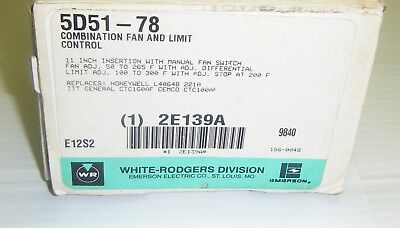 White-Rodgers 5D51-078 Combination Fan and Limit Control