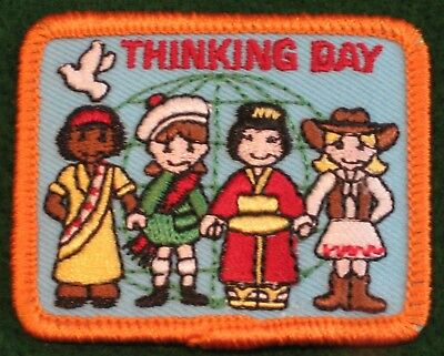 Thinking Day Girl Scout Fun Patch Badge - NEW