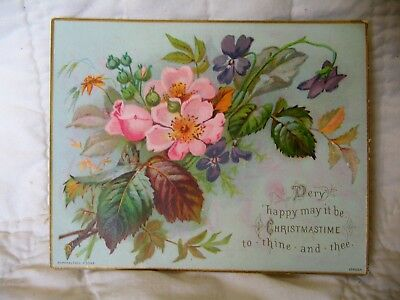 Estate Sale ~ Vintage Victorian Christmas Greeting Card - Ralphael Tuck and Sons