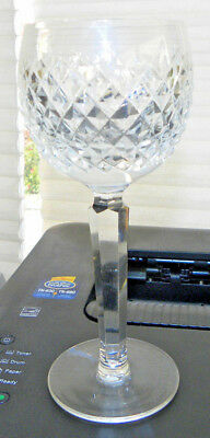 "1 Signed Waterford Alana Crystal 7 1/2"" Hock Wine Goblet Little Use Excellent 4"