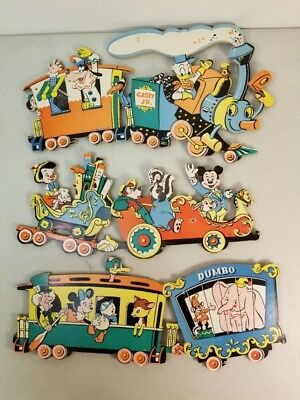 Vintage Disney Casey Jr Train Nursery Room Wall Hangings Decor Thick Cardboard