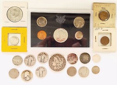* Mixed Lot Of Different Types Of United States Coins In Varied Conditions