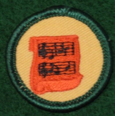 Making Music Junior Girl Scouts Badge Patch - New