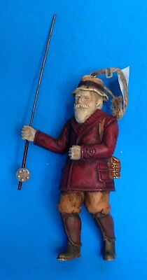 Woodland Santa Fishing Ornament - Midwest of Cannon Falls