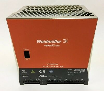Weidmuller Connect Power 8708680000 CP SNT 250W 24V 10A Power Supply (72-A-10-3)
