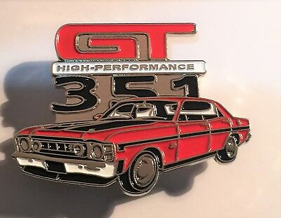 Ford Falcon GT 351 GTHO Quality Metal Car Badge, Hat Pin, Lapel Pin, 2 clutches