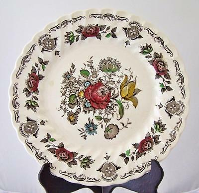 VINTAGE Myott Staffordshire Dinner Plate Bouquet Pattern Vintage Tattoo