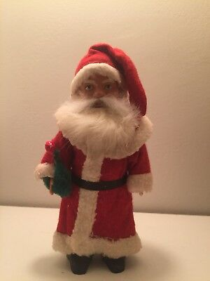 Rare Germany 1930 Santa Claus Antique Mechanical Early Celluloid Windup