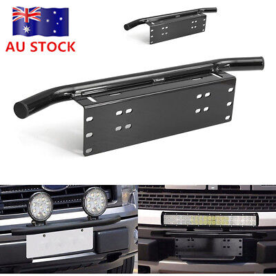 Liscence Number Plate Holder Mount Bracket Car Bumper LED Driving Light Bar