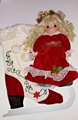 Mint in the Box Precious Moments Stocking Doll Winter on Ice 14th in the Series