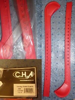 Plastic guards for Ice Figure Skates or Hockey Size Youth to Adult RED