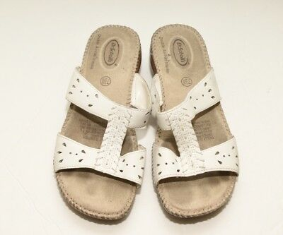 8bcd96c5ac65 DR SCHOLLS Double Air Pillo Strappy Sandals Womens Size 7.5W White Slides