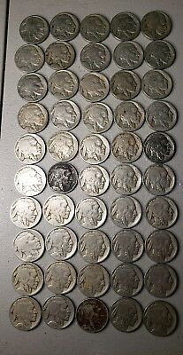 Partial Date Buffalo Nickels-Lot of 50