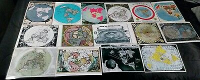 15 Flat Earth Gleasons Square Stationary Air Age World Azimuthal mini maps
