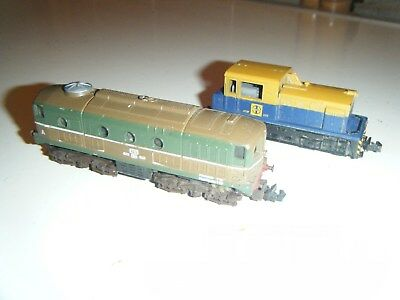Two N scale LIMA ITALY locomotive trains untested for parts or repair