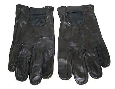 Men's genuine soft lamb skin quality driving gloves with knuckle holes # 110
