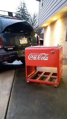 Coke Ice Cooler chest. Original store front.