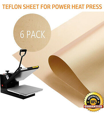6pcs Teflon Cloth Heat Press Transfer Sheets Food Grade for Baking Iron Pressing