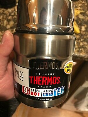 Thermos King Stainless Steel Food Jar 16 oz Vacuum Insulated With S.S. Spoon NEW